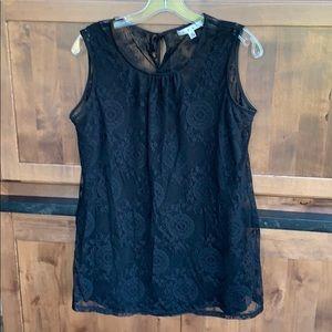 Cabi Black Lace overlay cami top